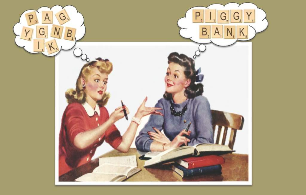 The difference between Y, P, G, I, A, G, N, K, B, and PIGGY BANK