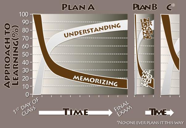 Memorizing versus understanding