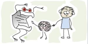 Brain sees exam monster