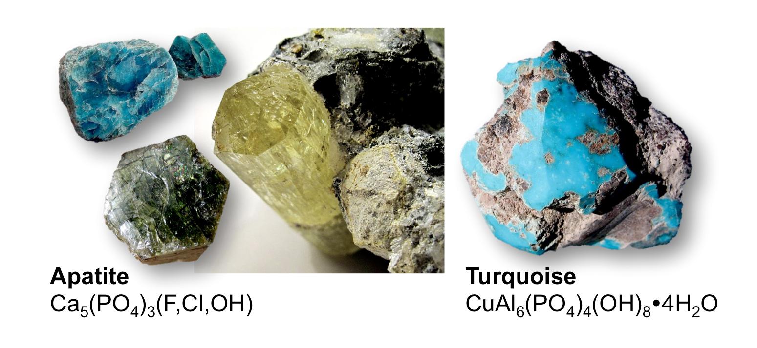 Figure 5.13 Phosphate minerals